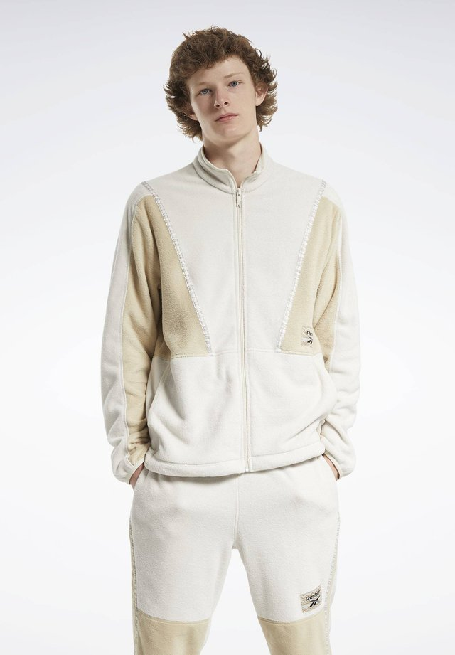 CLASSICS WINTER ESCAPE TRACK TOP - Forro polar - white