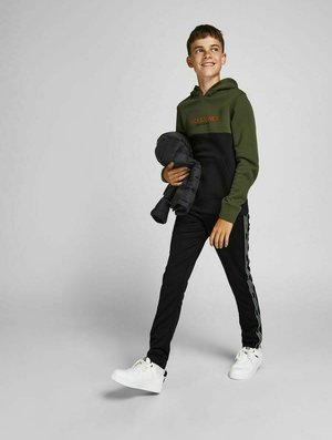 LOGOTAPE - Pantalones deportivos - black