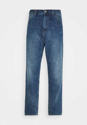 JACOB PANT MONROE - Jeans Straight Leg - blue mid used wash
