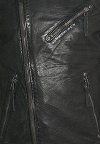 Gipsy - MALIK UNISEX - Kožená bunda - anthracite - 6