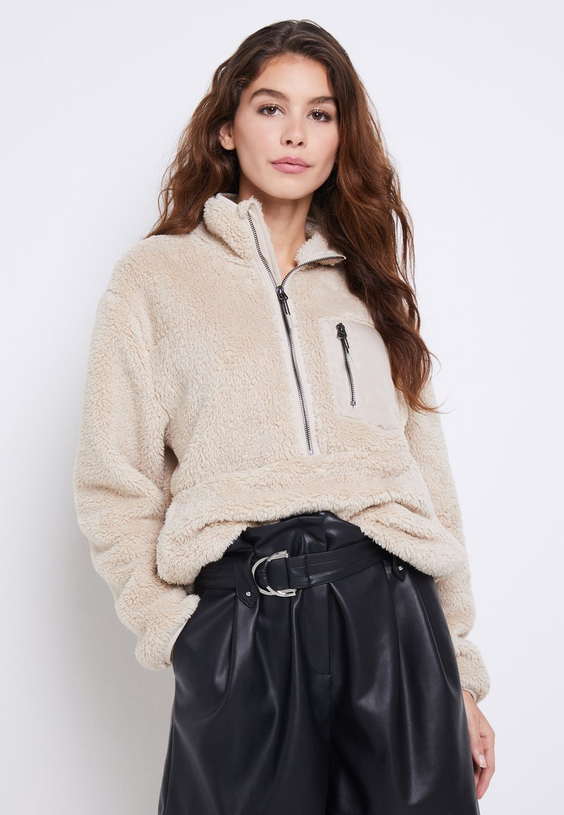 ONLY - ONLDALINA ZIP - Sweat polaire - pumice stone