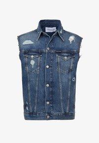 Calvin Klein Jeans - FOUNDATION TRUCKER VEST PRIDE - Waistcoat - painters blue - 4