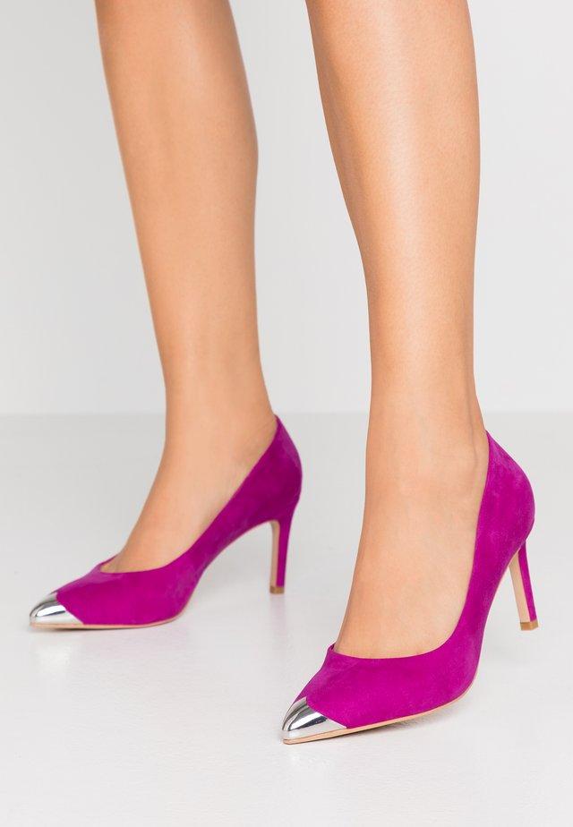 CORA METAL TOE - Classic heels - purple