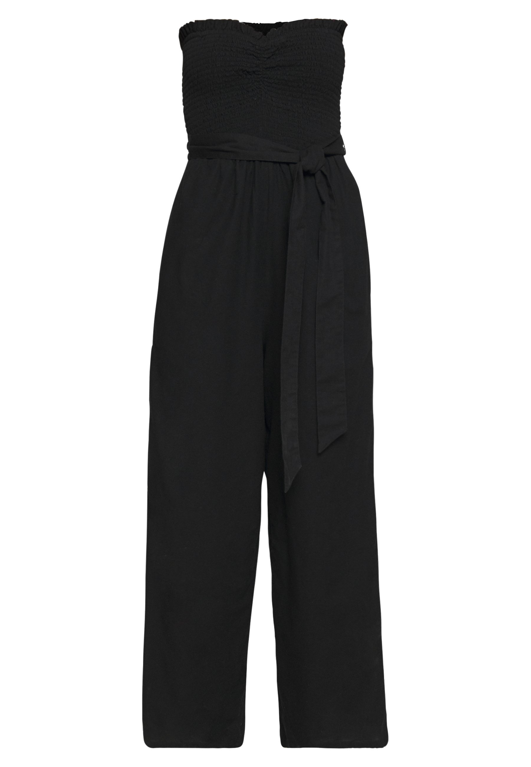 American Eagle EASY SMOCKED TUBE - Jumpsuit - black