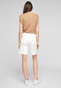 s.Oliver - Denim shorts - white - 2