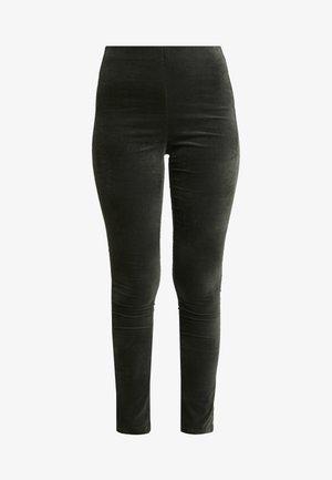 Leggings - black green