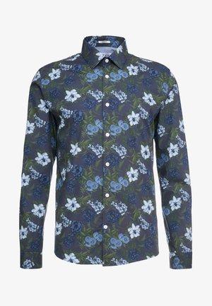 LARGE FLORAL - Shirt - blue
