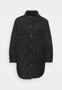 Vero Moda Curve - VMSIMONELOA SHIRT JACKET - Light jacket - black - 5