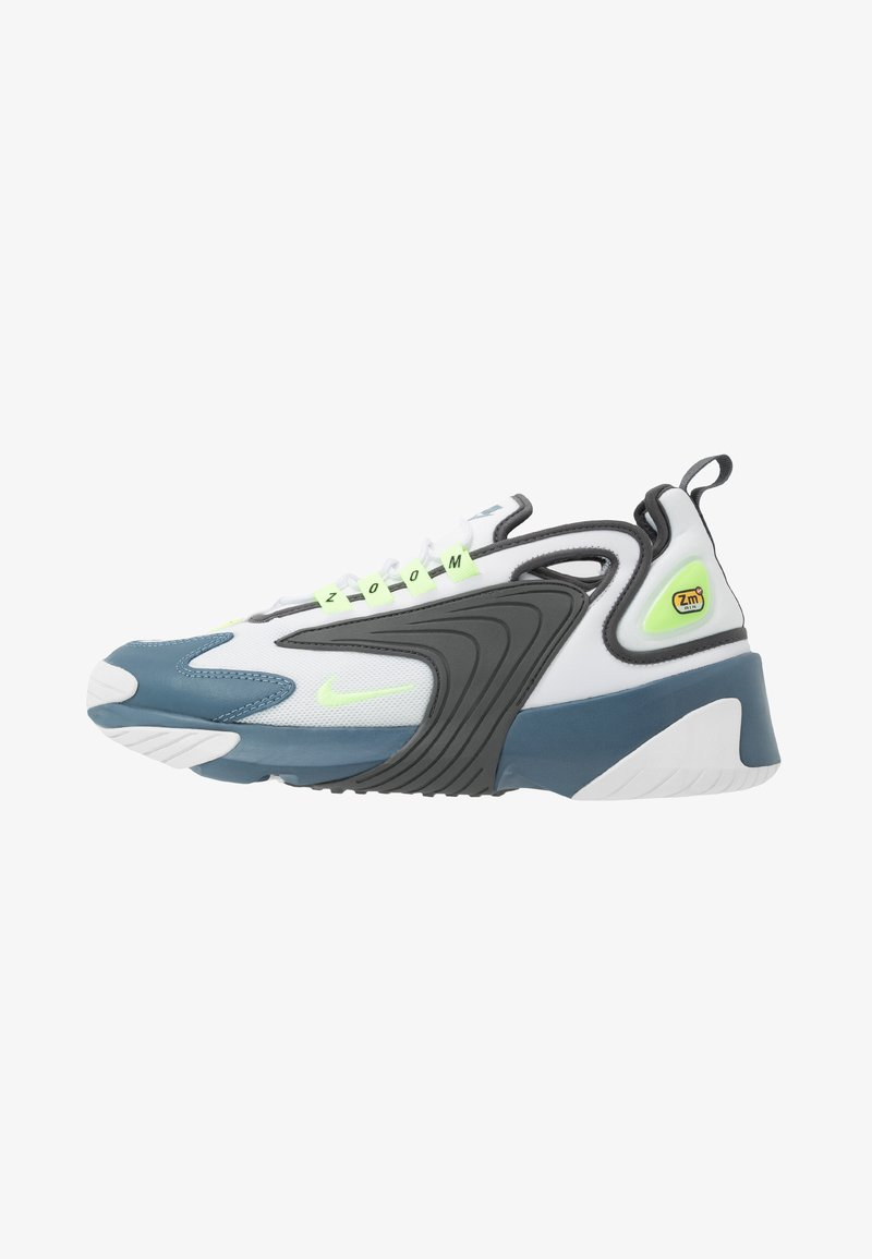 Nike Sportswear - ZOOM  - Matalavartiset tennarit - white/ghost green/iron grey/thunderstorm