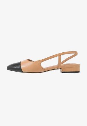 CORALLINA - Slingback ballet pumps - camel
