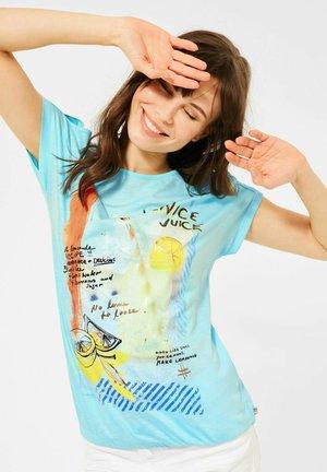 Print T-shirt - türkis