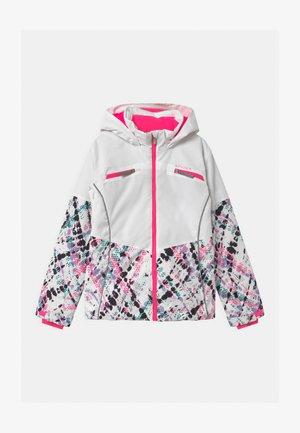 CONQUER - Lyžařská bunda - white/pink