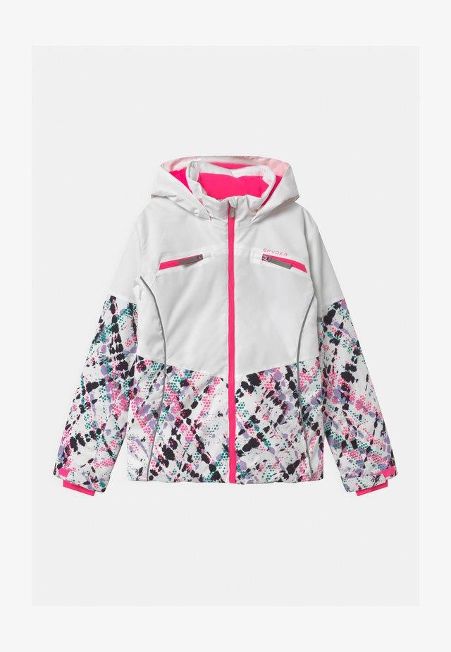 CONQUER - Veste de ski - white/pink