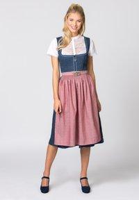Stockerpoint - ROSELINE - Dirndl - blue/old pink - 0