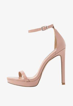 MILANO - Sandales à talons hauts - dark blush