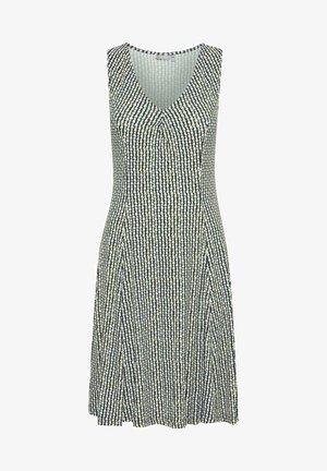 FRANSA - Jersey dress - green white
