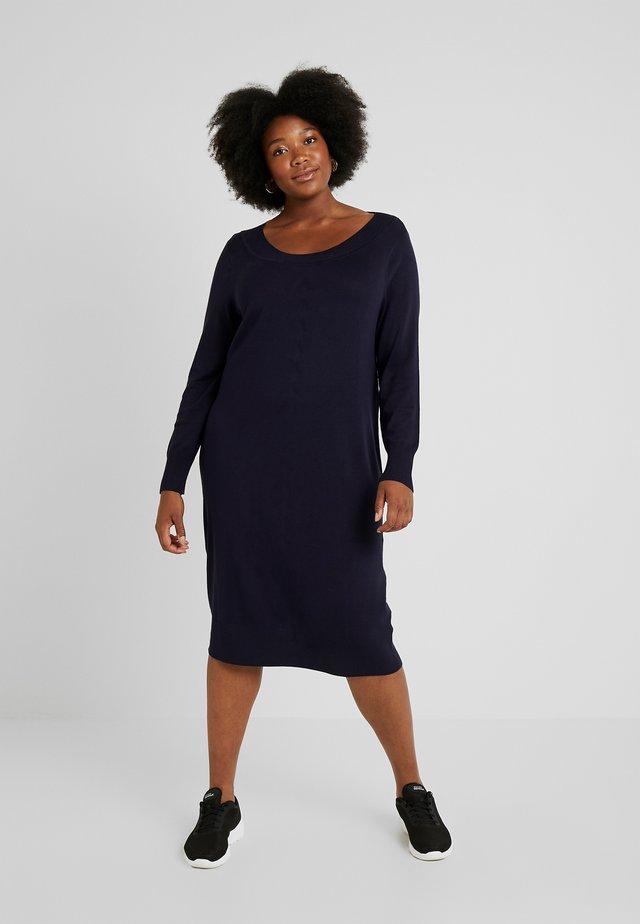 DRESS O NECK SLEEVES - Jumper dress - navy