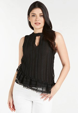 GUESS TANKTOP STICKEREI - Blouse - schwarz