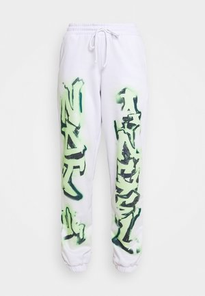 NOT YOUR PRINT JOGGERS - Tracksuit bottoms - green