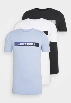JACTREVOR TEE 3 PACK - Pyjama top - white/black/serenity
