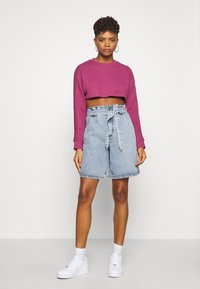 Nike Sportswear - CREW CROP - Sweatshirt - mulberry rose - 1