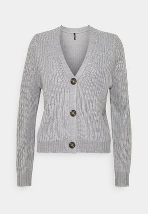 ONLLEXI BUTTON CARDIGAN - Cardigan - medium grey melange