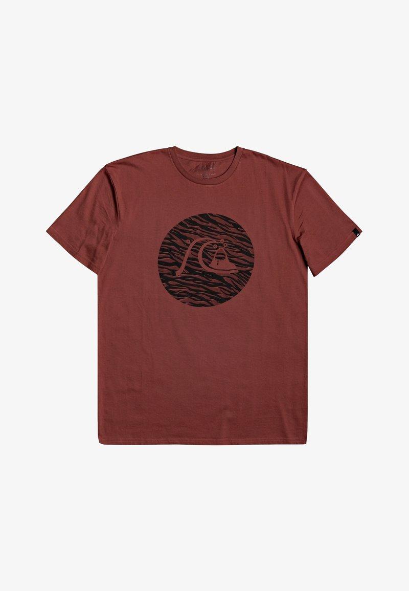 Quiksilver - JUNGLE BUBBLE  - Print T-shirt - henna