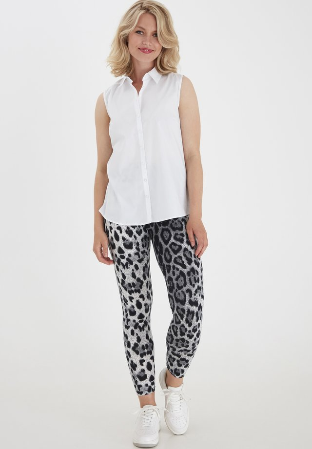 Leggings - grey animal mix