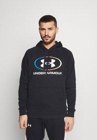 Under Armour - RIVAL LOCKERTAG - Zip-up hoodie - black - 0