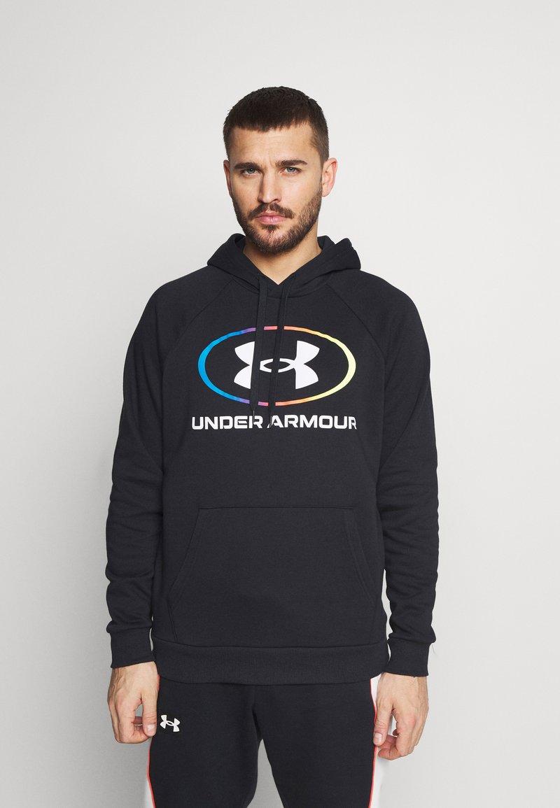 Under Armour - RIVAL LOCKERTAG - Zip-up hoodie - black