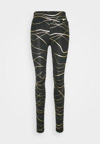 Nike Performance - FAST  - Punčochy - black/metallic gold - 3