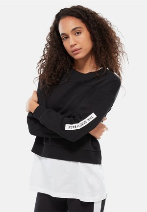 W LIGHT CROPPED - Sweatshirt - black