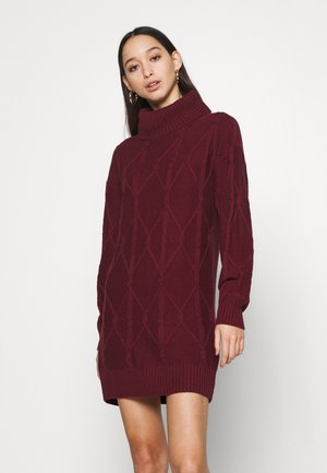SWEATER DRESS - Jumper dress - burgundy