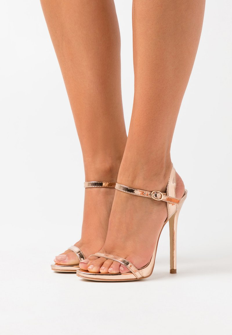 BEBO - SPARRA - Sandaler med høye hæler - rose gold metallic