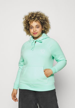 EMBROIDERED HOODIE - Sweatshirt - mint