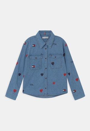 EMBROIDERD  - Button-down blouse - blue denim