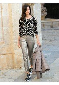 Alba Moda - Long sleeved top - schwarz,off-white,taupe - 2