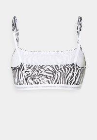 Calvin Klein Underwear - CK ONE UNLINED BRALETTE 2 PACK - Bustino - grey heather/glass tiger print - 5