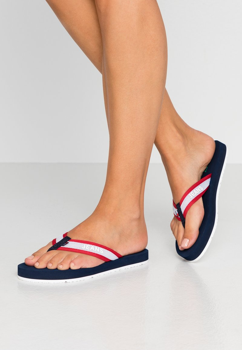 Tommy Jeans - RECYCLED BEACH SANDAL - Flip Flops - twilight navy