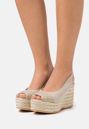 RENE - Platform sandals - natural