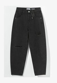Bershka - Straight leg jeans - dark grey - 4