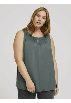 WITH FRONT SLIT - Blouse - washed jasper green