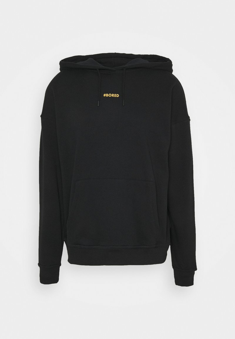 NU-IN - BORED HOODIE - Luvtröja - black