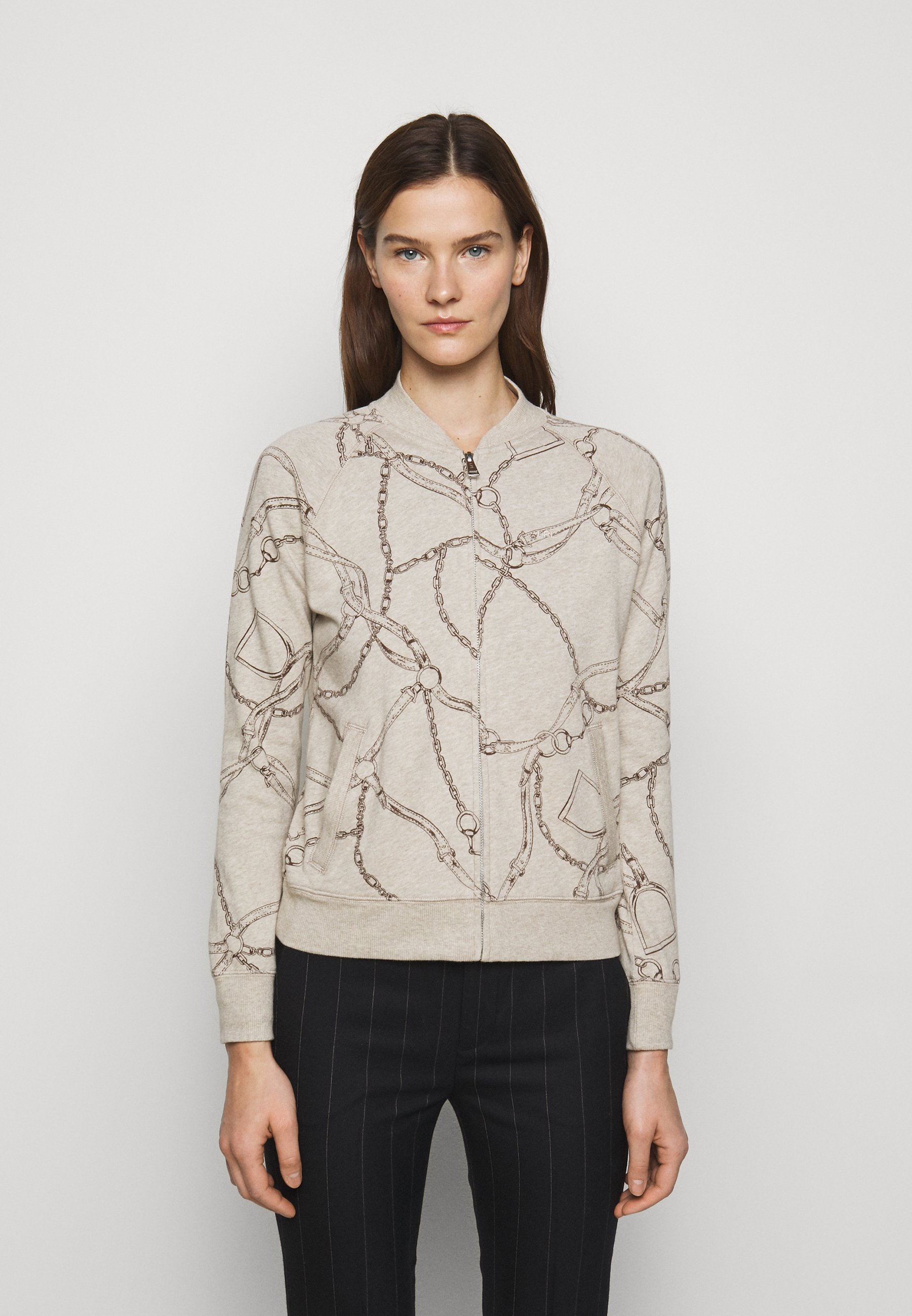 Women Zip-up sweatshirt - farro heather