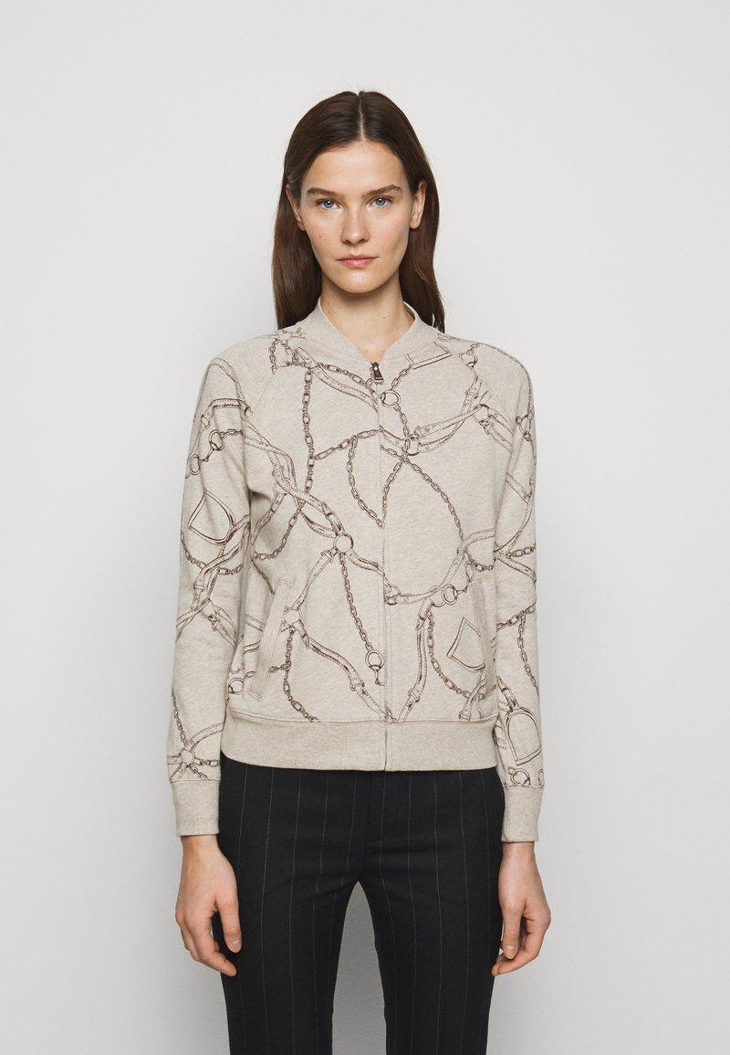 Lauren Ralph Lauren - Zip-up sweatshirt - farro heather
