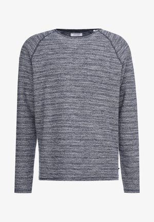 JJETERRY NECK - Sweatshirt - navy blazer/reg/melange