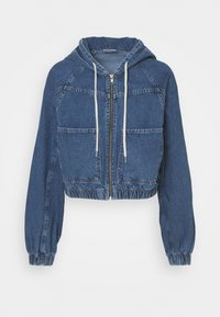 LEA PATCH POCKET CROP JACKET - Denim jacket - dark vintage