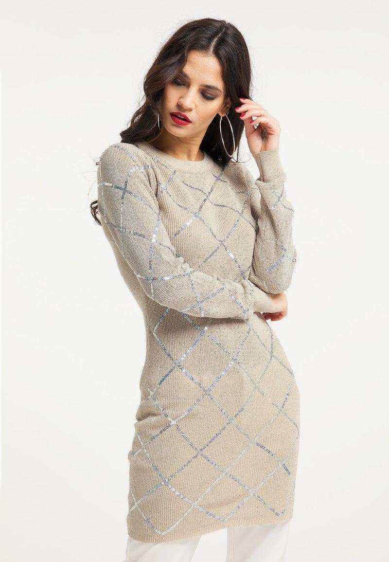 faina - Shift dress - beige