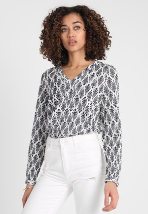 AMBER JAS BLOUSE - Blůza - dark blue/chalk
