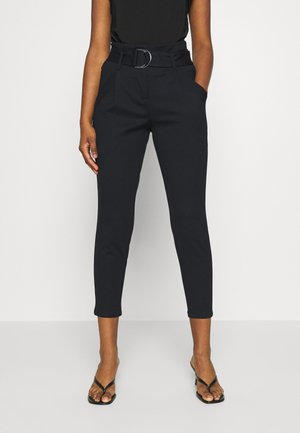 VMBAILEY PAPERBAG BELT PANTS - Trousers - black